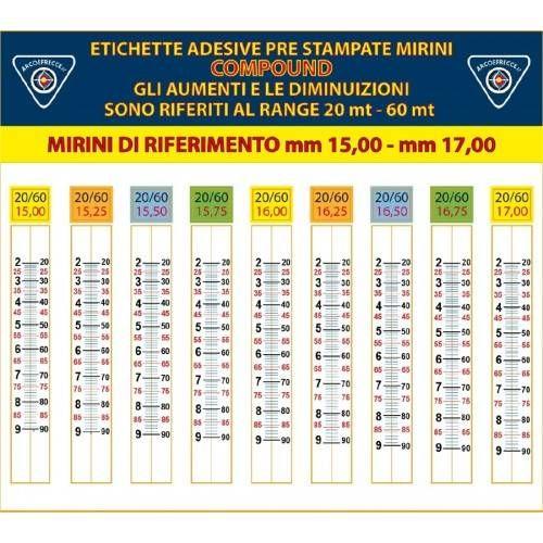 ETICHETTE ADESIVE BEST ARCHERY x MIRINI