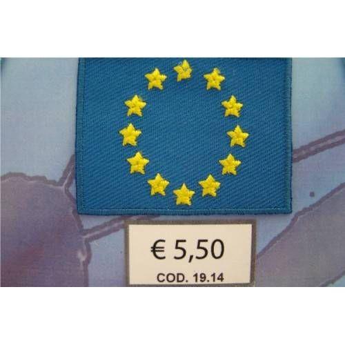 BANDIERINA TERMOADESIVA EUROPA cod. 1914 - 5,2x3,8 cm.