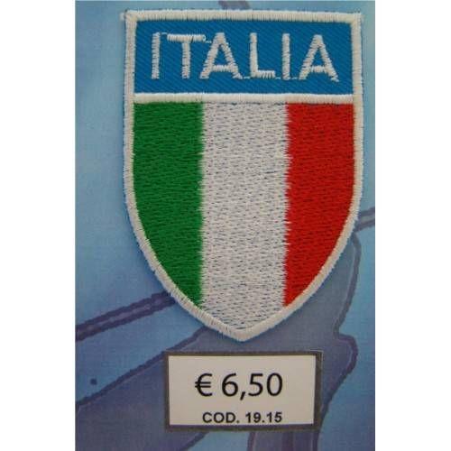 SCUDETTO TERMOADESIVO ITALIA cod. 1915 - 6,7x4,8 cm.