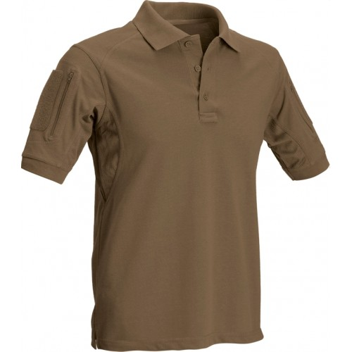 DEFCON5 POLO TACTICAL MANICA CORTA CON TASCHE COYOTE BROWN