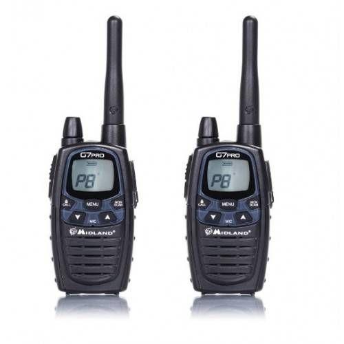 MIDLAND RADIO G7 PRO COPPIA 2 RADIO + 1 CARICATORE MURO + 2 PACCHI BATTERIE 800mAH