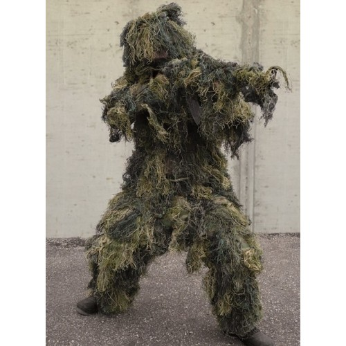 DE GHILLIE SUIT ANTI FIRE WOODLAND KIT 4 PEZZI