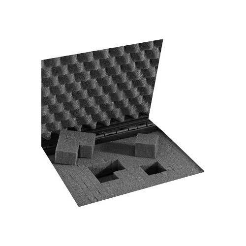PLASTICA PANARO VALIGIA RIGIDA Mod MAX 520S 57,4x36,1x22,5 cm NERA CON SPUGNA CUBETTATA
