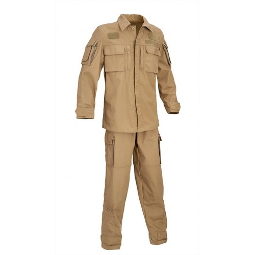 DEFCON5 TUTA VOLO NEW ARMY FLIGHT SUIT POLYCOTTON COYOTE TAN