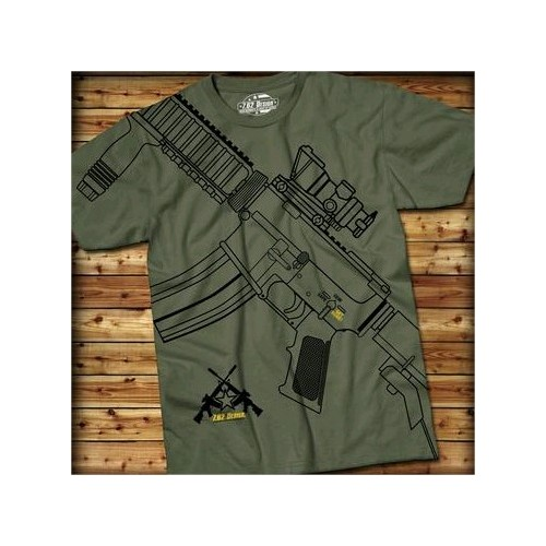 7.62 T-SHIRT GET SOME MILITARY GREEN