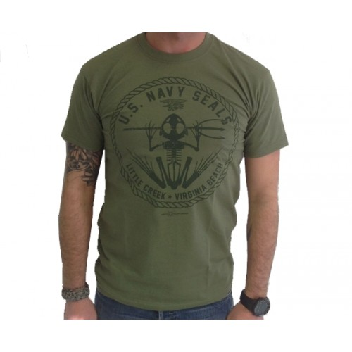 DEATH HOUSE T-SHIRT US NAVY SEALS OLIVE
