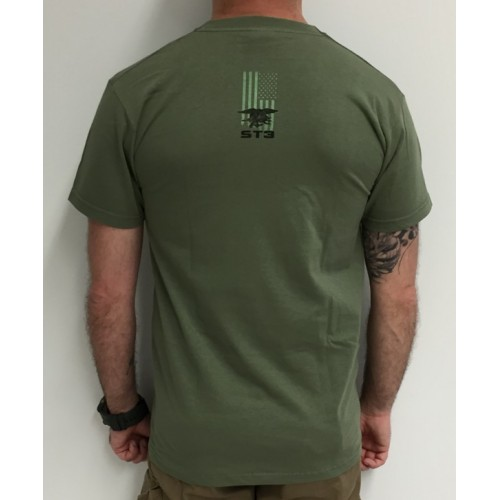 DEATH HOUSE T-SHIRT SEAL TEAM 3 SOLDIER & PUNISHER OLIVE