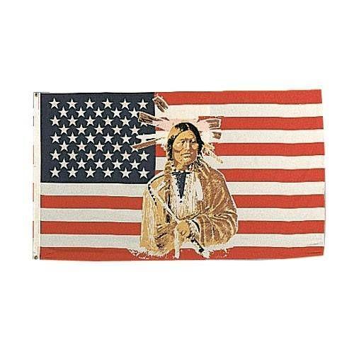 USA BANDIERA U.S. AMERICAN INDIAN cm 100x160