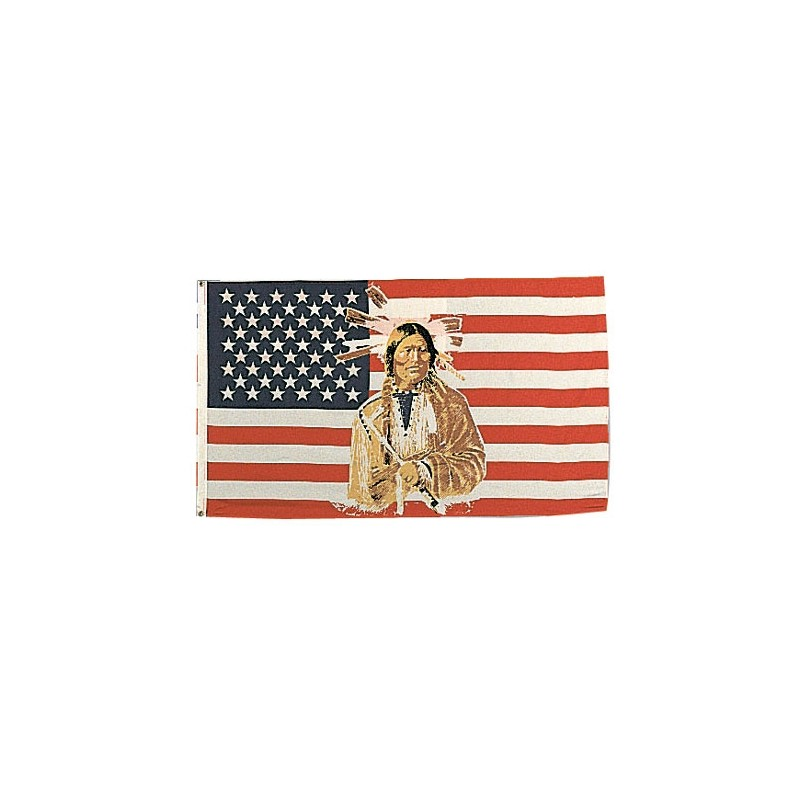 USA BANDIERA U.S. AMERICAN INDIAN cm 100x160