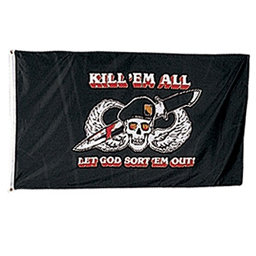USA BANDIERA KILL THEM ALL cm 100x160