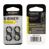 NITE IZE MOSCHETTONE/GANCIO S-BINER MICROLOCK 3lb *Conf. da 2pz*