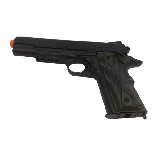 CYBERGUN PISTOLA SOFTAIR CO2 COLT 1911 RAIL GUN NERA SCARRELLANTE