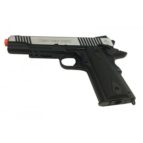 CYBERGUN PISTOLA SOFTAIR CO2 COLT 1911 RAIL GUN BICOLORE SCARRELLANTE
