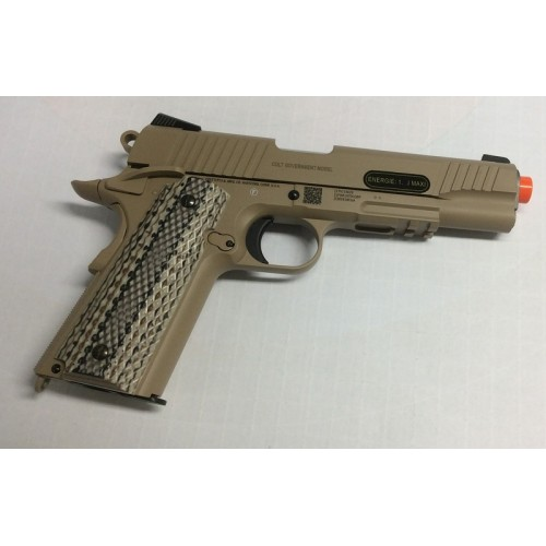 CYBERGUN PISTOLA SOFTAIR CO2 COLT M45A1 SCARRELLANTE TAN