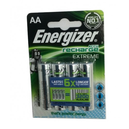 ENERGIZER BATTERIA STILO AA EXTREME NH15 2300mAh RICARICABILE *Conf. 4 pz*