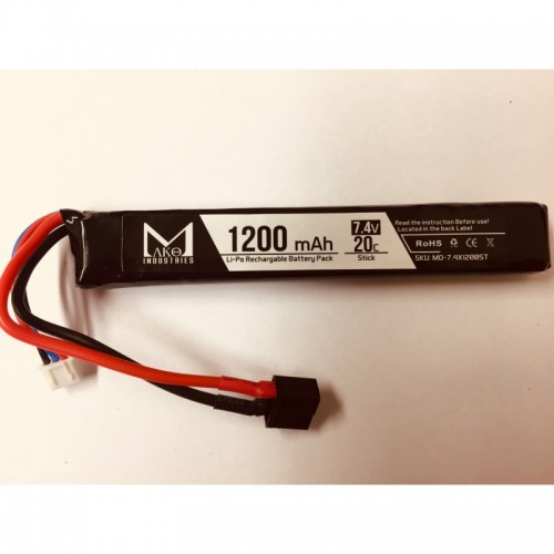 MAKO INDUSTRIES BATTERIA LIPO 7.4v 1200mAh 20C