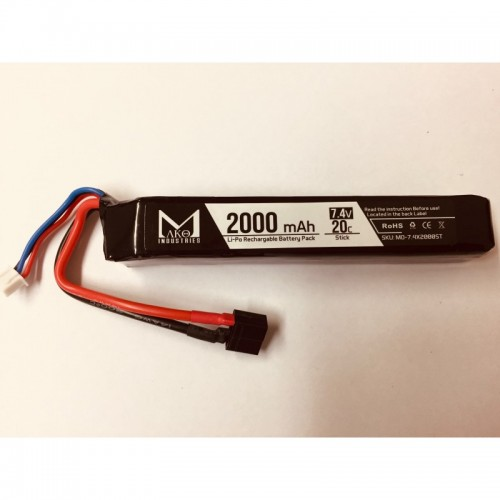MAKO INDUSTRIES BATTERIA LIPO 7.4v 2000mAh 20C