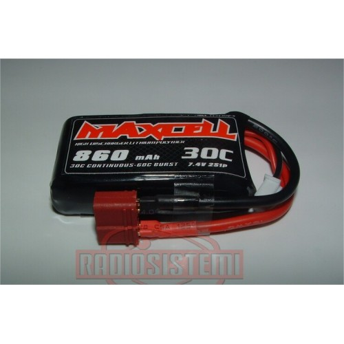 MAXPRO BATTERIA LIPO 30C 7,4V 860 MAH