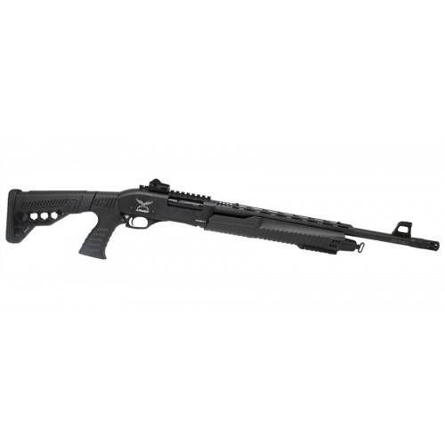 """ARMED GUNS FUCILE A POMPA C12 CAL.12 20"""" DELUXE CALCIO RETRATTILE"""