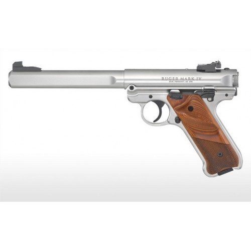 """RUGER PISTOLA MKIV COMPETITION 6.7/8"""" INOX CAL .22LR"""