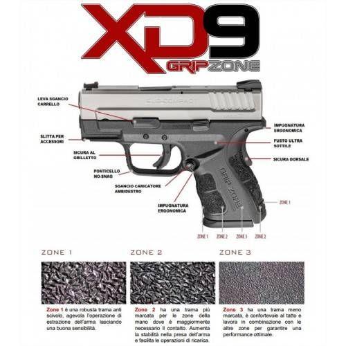 "HS PISTOLA XD-9 Mod. 2 SERVICE 4"" CAL. 9x21 INOX"