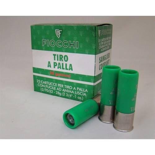 FIOCCHI CARTUCCE TIRO A PALLA CAL.12 28grs *Conf. da 25pz*