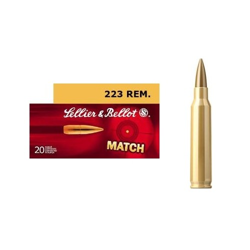SELLIER & BELLOT CARTUCCE CAL 223REM MATCH 69grs *Conf. da 20pz*