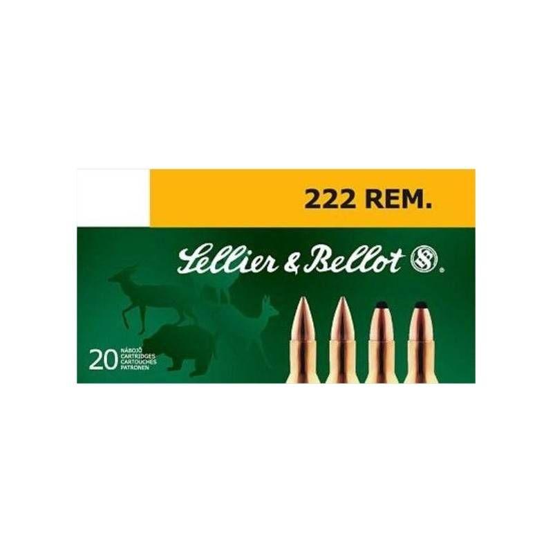 SELLIER & BELLOT CARTUCCE CAL. 222 REM FMJ 50grs *Conf. da 50pz*