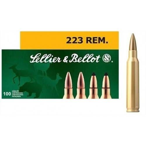 SELLIER & BELLOT CARTUCCE CAL 223REM FMJ 55grs *Conf. da 100pz*