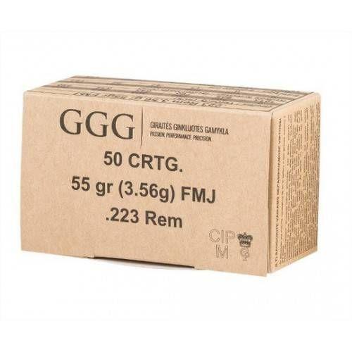 GGG CARTUCCE CAL. 223REM 55grs FMJ *Conf. da 50pz*
