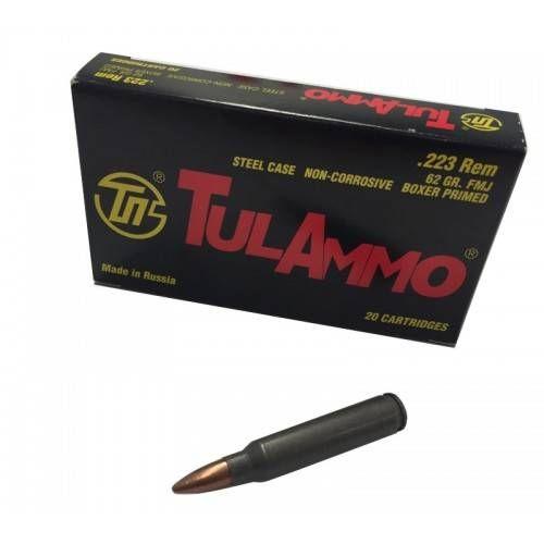 WOLF TULAMMO CARTUCCE CAL 223 REM FMJ 62grs *Conf. da 20 pz*