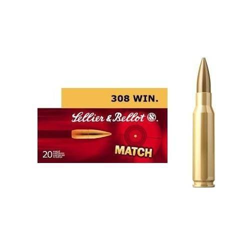 SELLIER & BELLOT CARTUCCE CAL 308WIN MATCH 168grs *Conf. da 20pz*