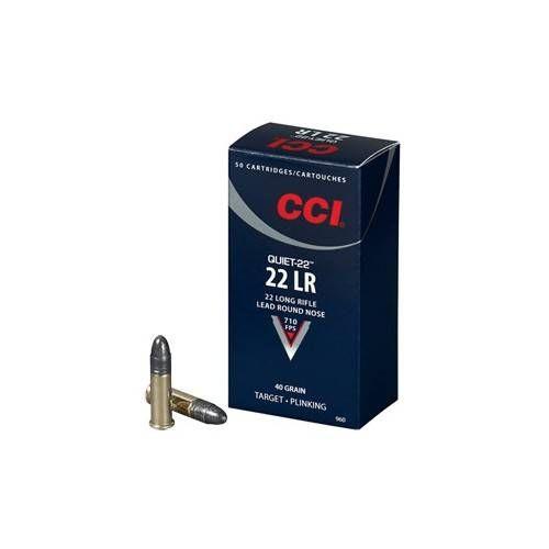 CCI CARTUCCE CAL. .22LR QUIET 22 RN 40grs *Conf. 50pz*
