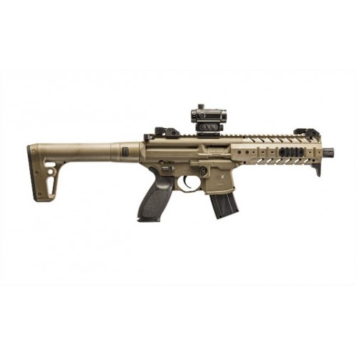 SIG SAUER CARABINA CAC MPX FDE CO2 -7,5J CAL 4,5 con RED DOT C.N. 727