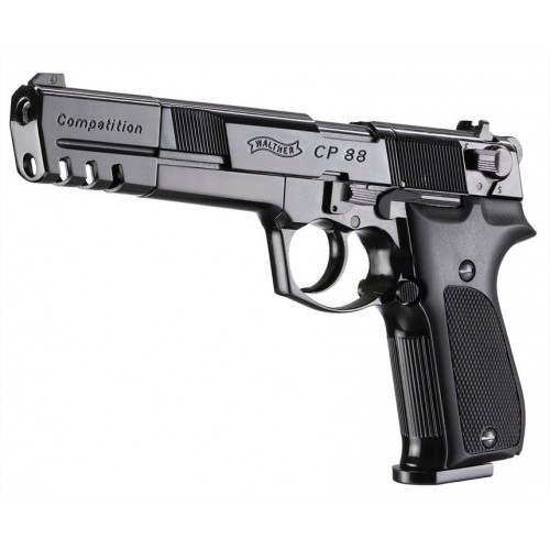 UMAREX WALTHER PISTOLA CP 88 6 COMPETITION NERA CO2 -7,5J CAL 4,5 C.N. 274 e C.N. 60