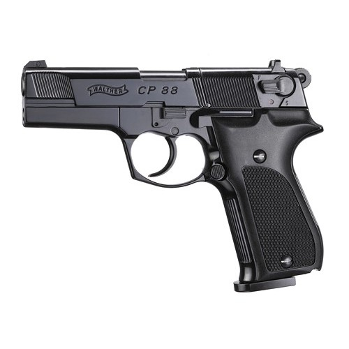 UMAREX WALTHER PISTOLA CP 88 4 NERA CO2 -7,5J CAL 4,5 C.N. 232 e C.N. 59
