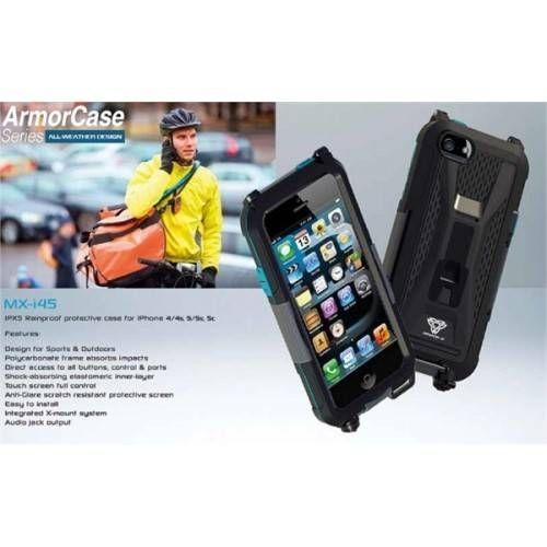 ARMOR-X COVER IMPERMEABILE CON ATTACCO MANUBRIO PER I-PHONE 4/5/5S/5C