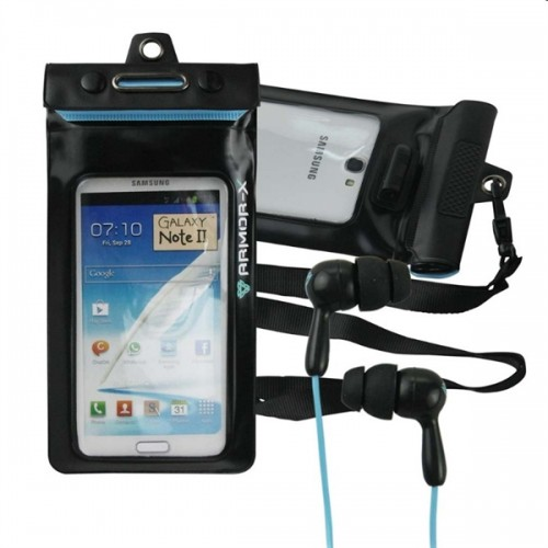 ARMOR-X KIT CUSTODIA IMPERMEABILE CON AURICOLARI PER GALAXY NOTE