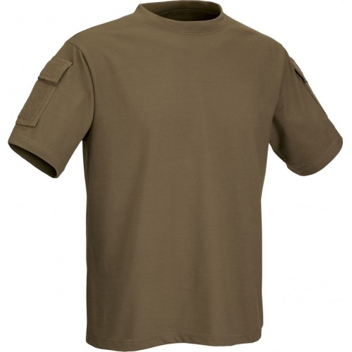 DEFCON5 T-SHIRT TACTICAL MANICA CORTA CON TASCHE COYOTE BROWN