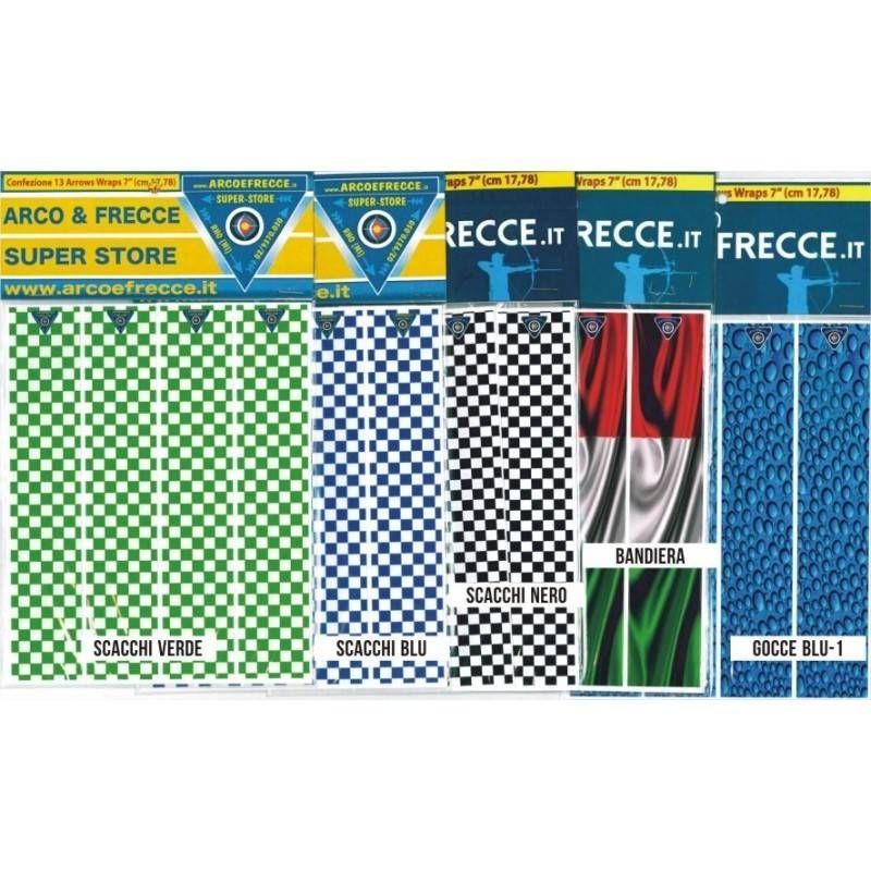 ARROW WRAPS ADESIVI BEST ARCHERY x ASTE -60 (conf. 13pz)