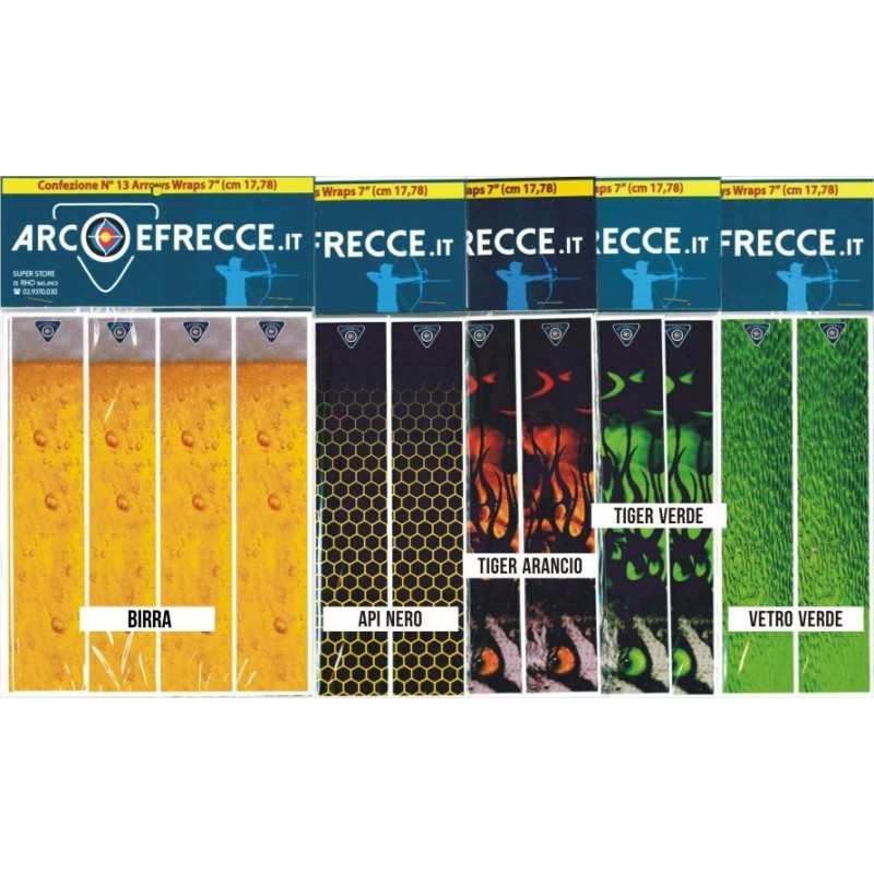 ARROW WRAPS ADESIVI BEST ARCHERY x ASTE LARGE DIAMETER (13pz)