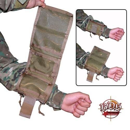 BDS TACTICAL MISSION ARM PORTA MAPPA DA BRACCIO