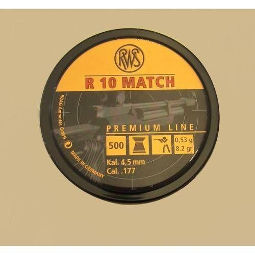 RWS DIABOLO R10 MATCH 4.50mm 0.53g *Conf. da 500pz*