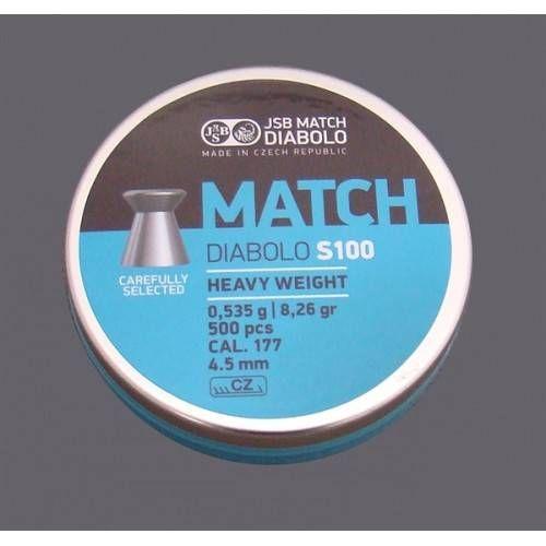 JSB DIABOLO MATCH S100 *conf.500pz.*