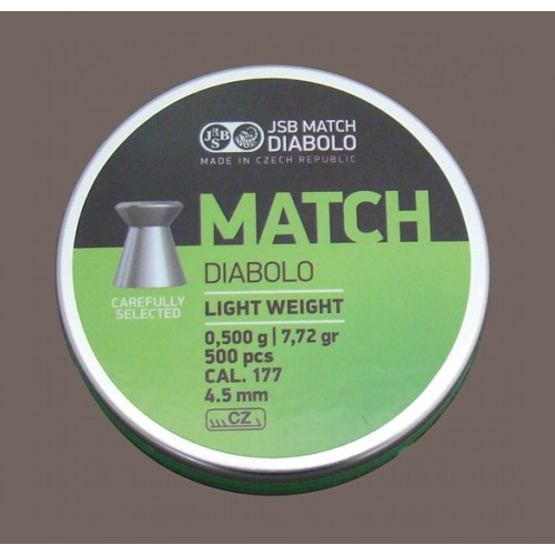 JSB DIABOLO MATCH PISTOL *conf.500pz.*