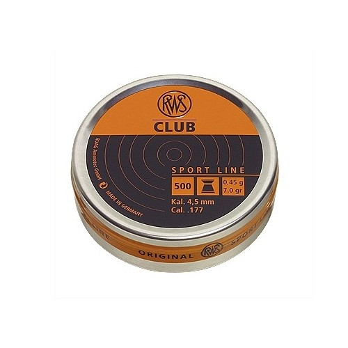 RWS DIABOLO CLUB 4,5mm 0,45g *Conf. da 500pz*