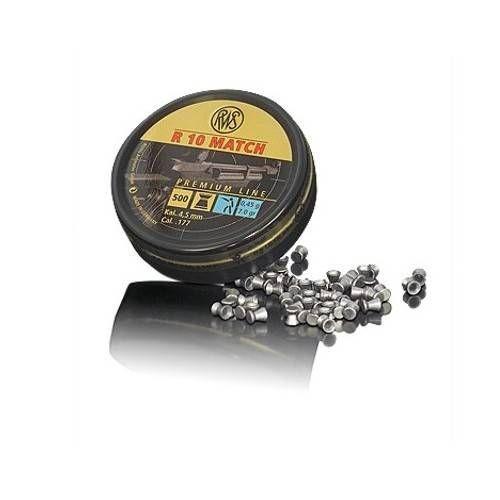 RWS DIABOLO R10 MATCH 4.51mm 0.45g BLU *Conf. da 500pz*