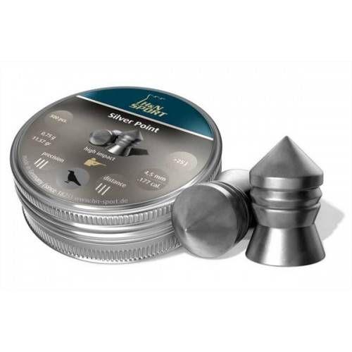 H&N DIABOLO SILVER POINT 4,5mm 0,75gr *Conf. 500pz*