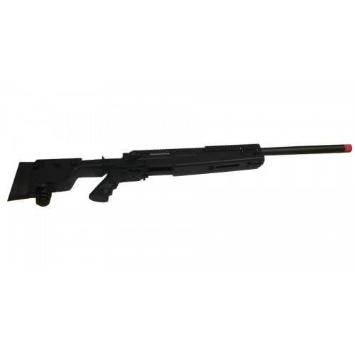 SWISS ARMS FUCILE SOFTAIR A MOLLA SAS 06 BLACK CON BIPIEDE