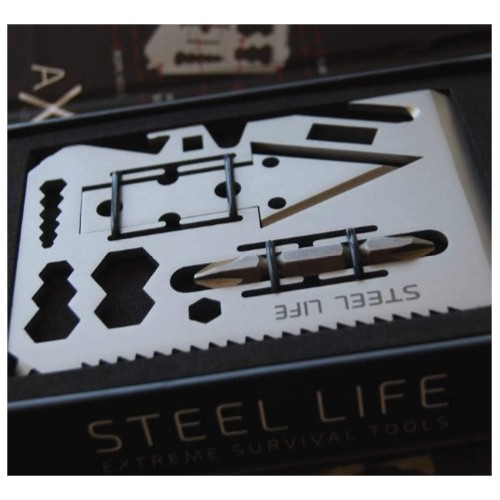 STEEL LIFE MULTITOOL AXEM MACHINE FOR SURVIVAL 4.0